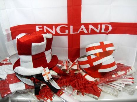 England Party Pack 72 pieces Partypackage Party Decoration